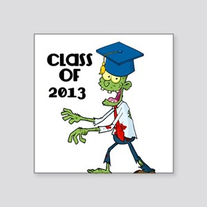 Class of 2013-Zombie with Hat Sticker
