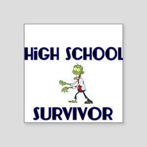 High School Survivor-Zombie-blue Sticker