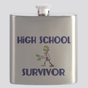High School Survivor-Zombie-blue Flask