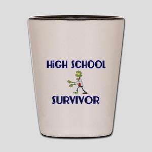 High School Survivor-Zombie-blue Shot Glass
