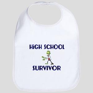 High School Survivor-Zombie-blue Bib