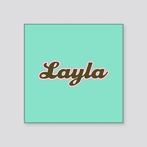 Layla Aqua Sticker