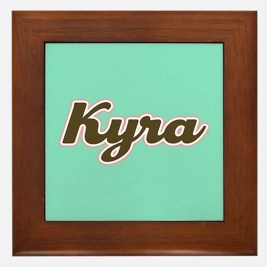 Kyra Aqua Framed Tile