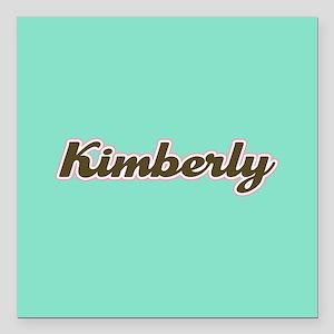 "Kimberly Aqua Square Car Magnet 3"" x 3"""
