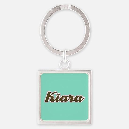 Kiara Aqua Square Keychain