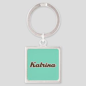 Katrina Aqua Square Keychain