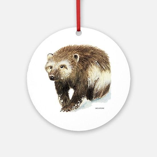 Wolverine Animal Ornament (Round)