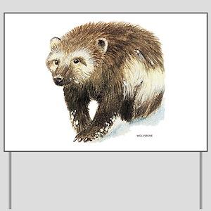 Wolverine Animal Yard Sign