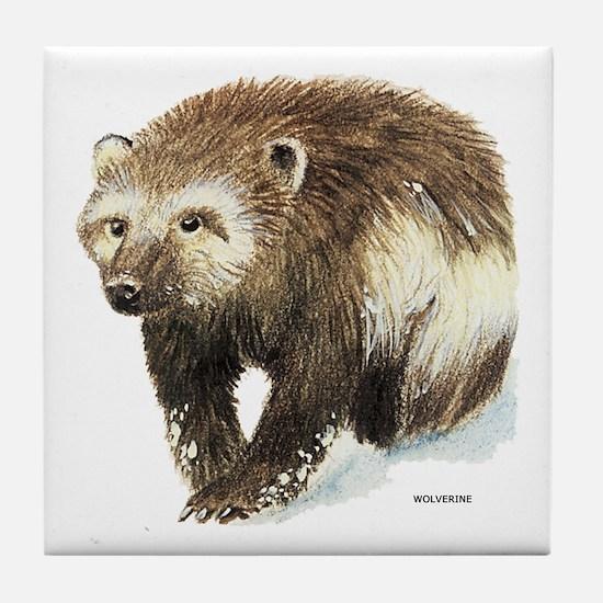 Wolverine Animal Tile Coaster