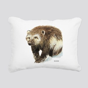 Wolverine Animal Rectangular Canvas Pillow