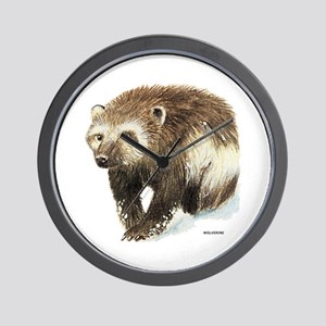 Wolverine Animal Wall Clock
