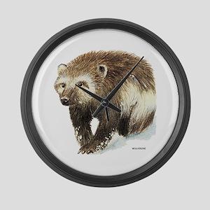 Wolverine Animal Large Wall Clock
