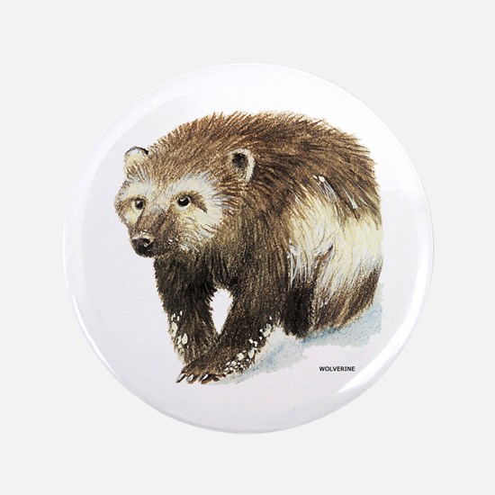 """Wolverine Animal 3.5"""" Button"""