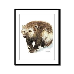 Wolverine Animal Framed Panel Print