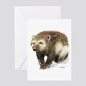 Wolverine Animal Greeting Card