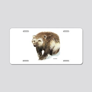Wolverine Animal Aluminum License Plate