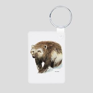 Wolverine Animal Aluminum Photo Keychain