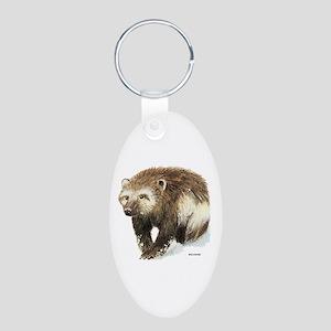 Wolverine Animal Aluminum Oval Keychain