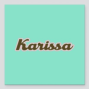 """Karissa Aqua Square Car Magnet 3"""" x 3"""""""