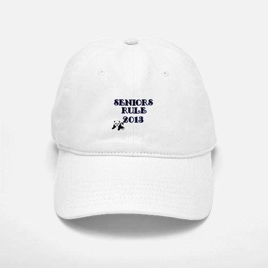 SENIORS RULE 2013-with Panda Baseball Baseball Baseball Cap