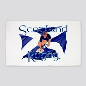 Scotland rugby player try graphic 3'x5' Rug