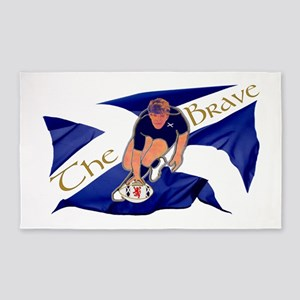 Scotland rugby player brave graphic 3'x5' Rug