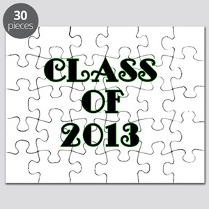 Class of 2013-lime green Puzzle