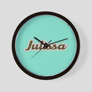 Julissa Aqua Wall Clock