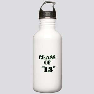 Class of 13 -lime green Water Bottle