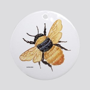 Bumblebee Insect Ornament (Round)