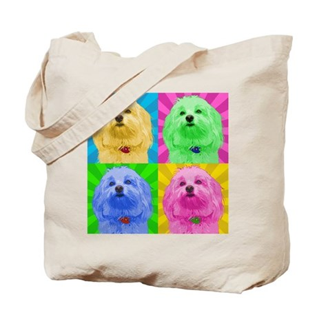 Pop Art Havanese Tote Bag
