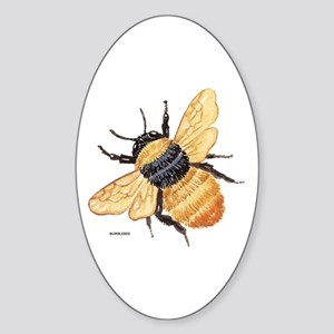 Bumblebee Insect Sticker (Oval)