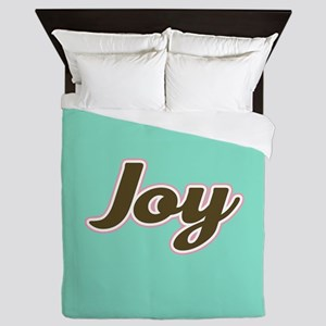 Joy Aqua Queen Duvet