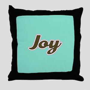 Joy Aqua Throw Pillow