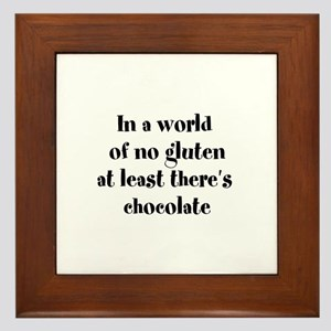 World of no gluten Framed Tile
