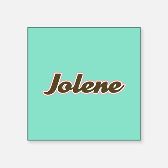 Jolene Aqua Sticker