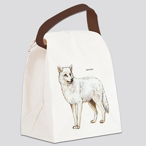 Arctic Wolf Canvas Lunch Bag