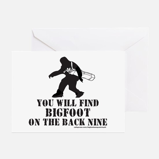 BIGFOOT ON THE BACK NINE Greeting Cards (Pk of 10)