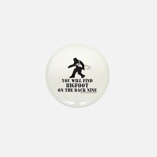 BIGFOOT ON THE BACK NINE Mini Button