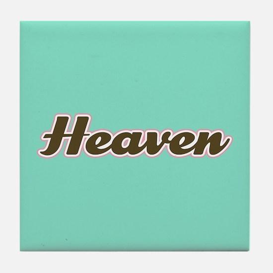 Heaven Aqua Tile Coaster