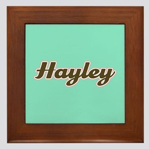 Hayley Aqua Framed Tile