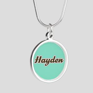 Hayden Aqua Silver Round Necklace