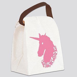 Pink Zombie Unicorn Canvas Lunch Bag