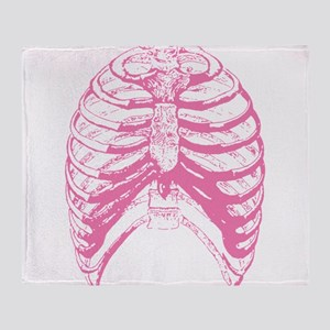 Pink Ribs Small Throw Blanket