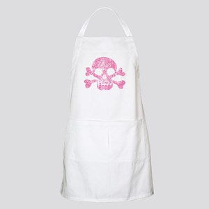 Worn Pink Skull And Crossbones Apron