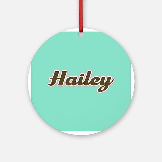 Hailey Aqua Ornament (Round)