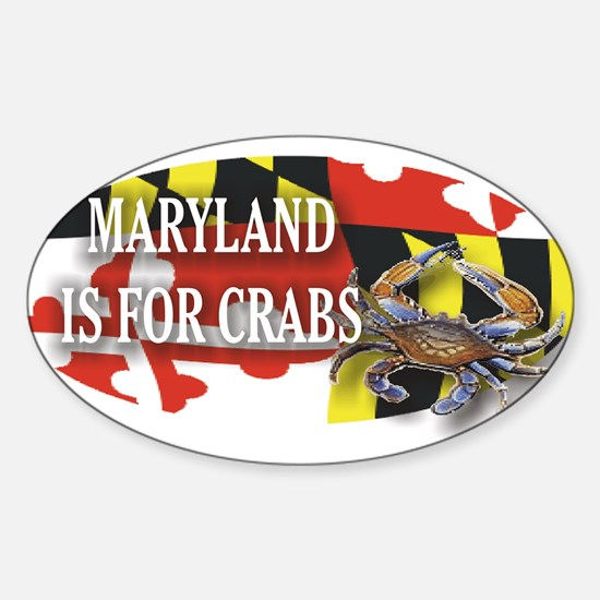 MARYLAND BLUE CRAB Oval Decal