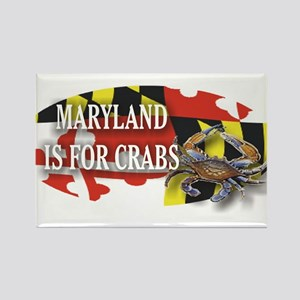 MARYLAND BLUE CRAB Rectangle Magnet