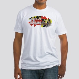 MARYLAND BLUE CRAB Fitted T-Shirt