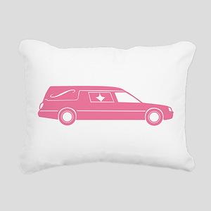 Cute Pink Hearse Rectangular Canvas Pillow